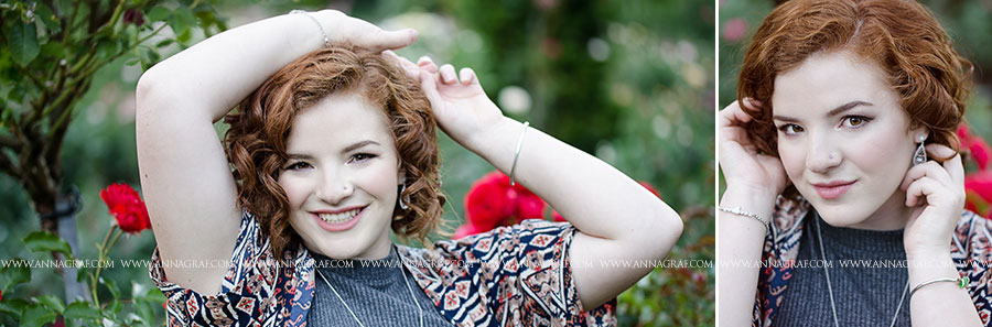 Gorgeous curly red head senior pictures - Anna Graf Photography
