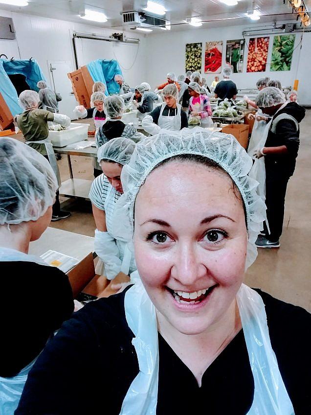 Anna Graf Photography Selfie at Oregon Food Bank