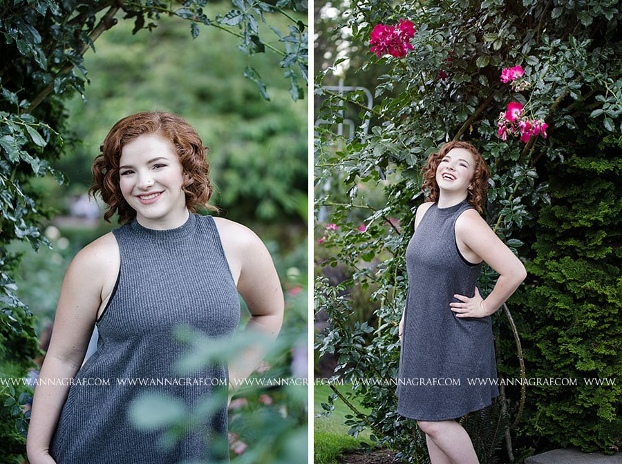 Portland Rose Garden Senior Picture