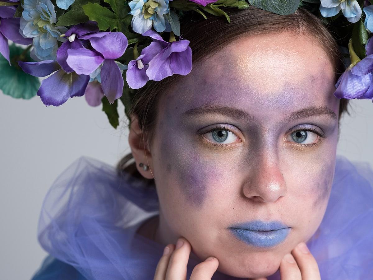 blue purple lipstick styled shoot Anna Graf Photography