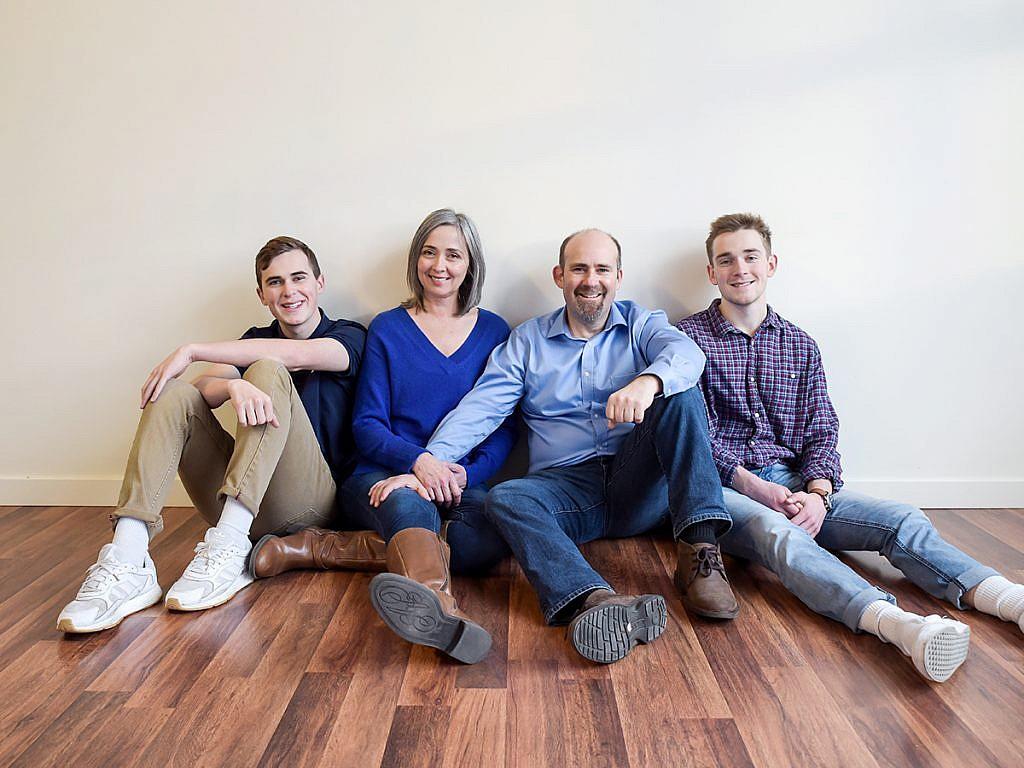 family of four studio family portraits Anna Graf Photography
