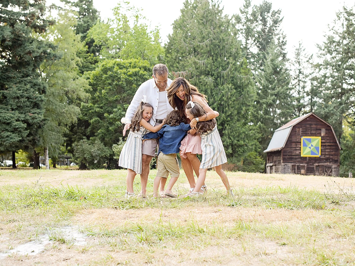 fun family of five family portraits Anna Graf Photography