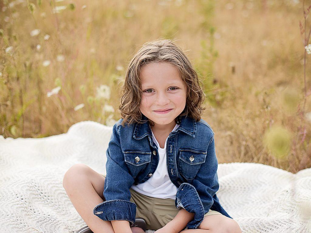 little boy with long hair family portraits Anna Graf Photography