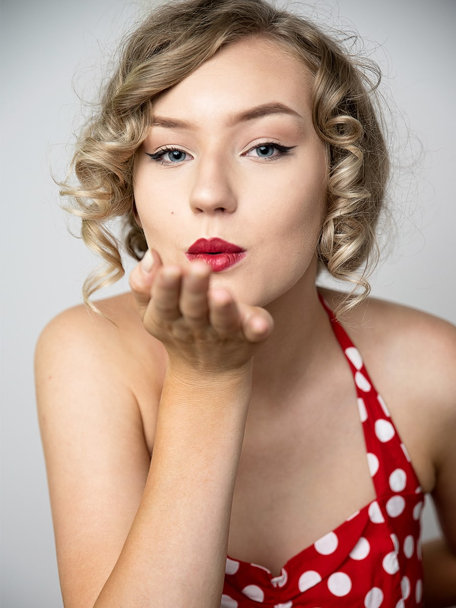 marilyn monroe red dress styled shoot Anna Graf Photography