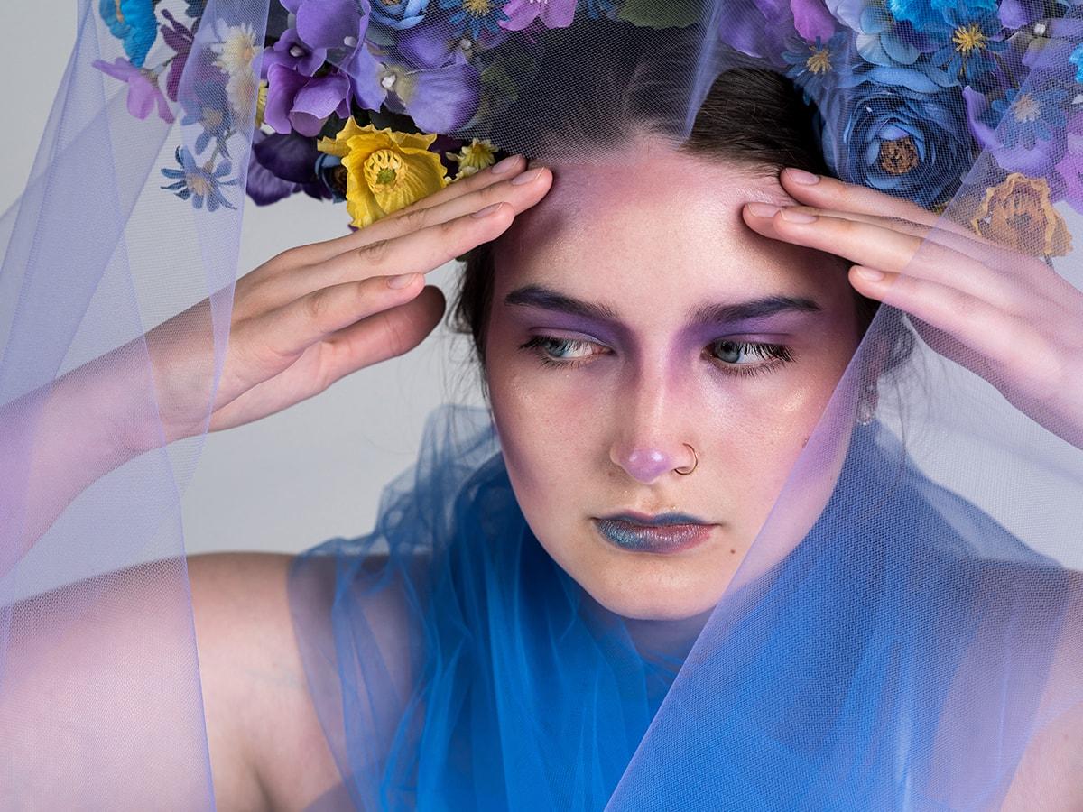 model headache flower crown styled shoot Anna Graf Photography