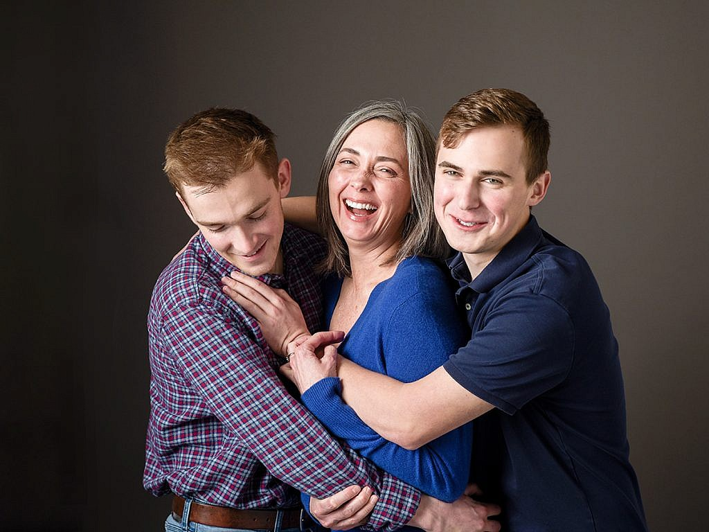 mother and sons studio family portraits Anna Graf Photography