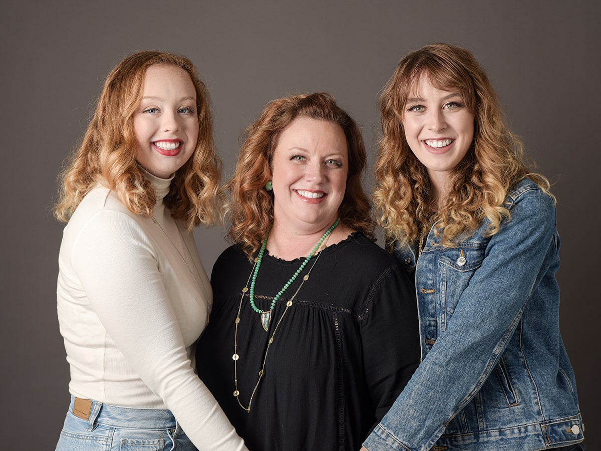 mothers and daughters studio family portraits Anna Graf Photography