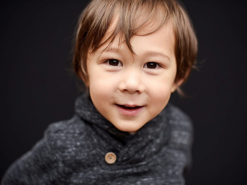 smiling boy with long hair school pictures Portland Anna Graf Photography